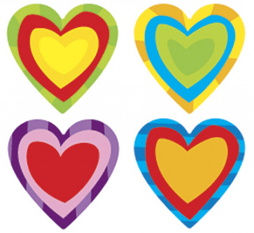 Paper Hearts Shaped Stickers for Kids