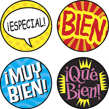Teacher Stickers | Palabras de Elogio Spanish Stickers for Kids