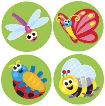 Itty Bitty Bugs Stickers for Children