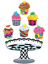 Children's Reward Stickers | Bake Shop Cupcakes