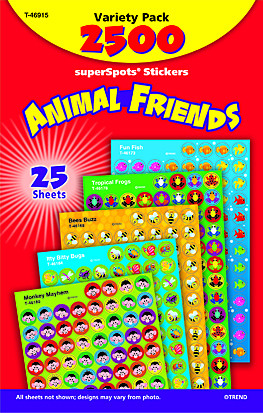 SuperSpot Variety Pack | Animal Friends Teacher Stickers