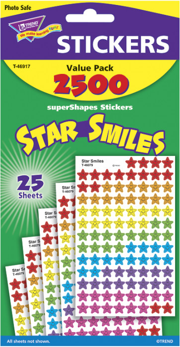 Kids Stickers | Star Smiles Classroom Stickers for Kids Value Pack