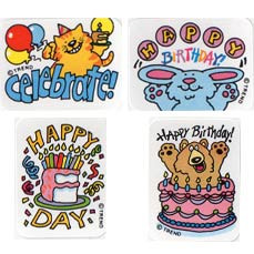 Teacher Reward Stickers | Happy Birthday Stickers for the Classroom