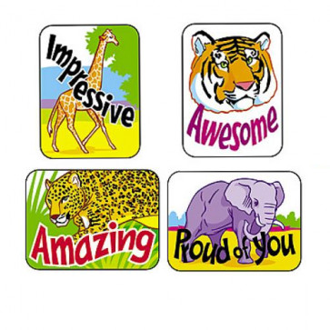 Merit Stickers - Awesome Animals | Teacher reward stickers