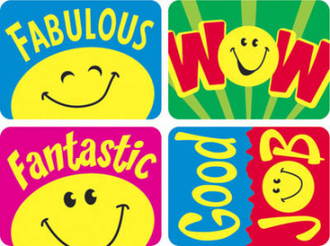 Teacher Praise Stickers | Smiley Face Stickers for Children