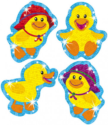 Sparkly Baby Duck Children's School Stickers