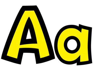 Yellow Alphabet Display Letters