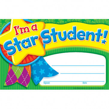 School Certificates | I'm a Star Student Recognition Award
