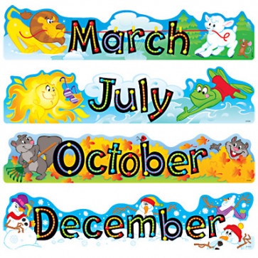 Classroom Display Resources | Month Headers