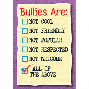 School Posters | Bullies Are Not Cool PSHE Poster.