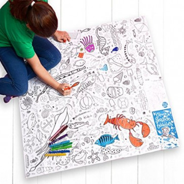 Colouring for Kids & Adults | Seaside Design Giant Poster or Tablecloth