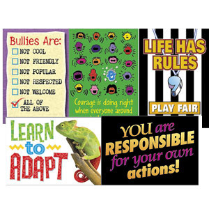 School Posters | PSHE & Bullying Value Poster Set for Teachers