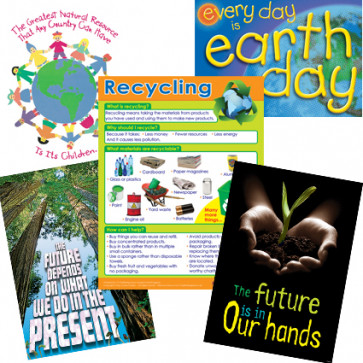 School Posters | Eco, Environment, Green Message Value Poster Set