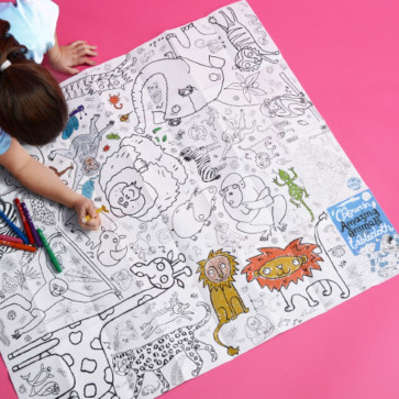 Colouring In For Kids | EggNogg Colouring in Giant Paper Tablecloth Summer Holiday Activity