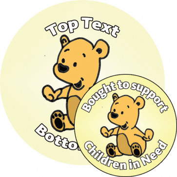 Personalised Stickers for Kids | Customise this cute teddy bear sticker to delight kids and support Children in Need!