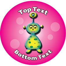 Personalised Stickers for Teachers   3 Eye Alien Designs to Customise for Kids