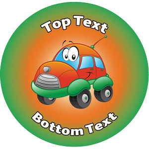 Personalised Stickers for Kids | Cute Car Transport Designs to Customise for Teachers