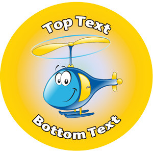 Personalised Stickers for Kids | Chopper / Helicopter Transport Designs to Customise for Teachers