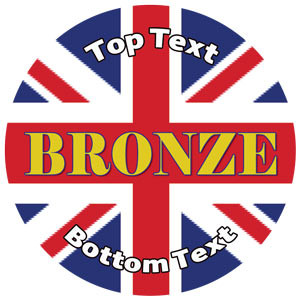 Personalised Stickers for Kids | Union Jack, Bronze Award for School Sports Days