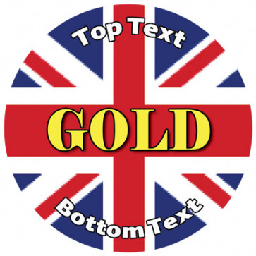 Personalised Stickers for Kids | Union Jack, Gold Award for School Sports Days