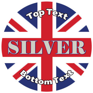 Personalised Stickers for Kids | Union Jack, Silver Award for School Sports Days