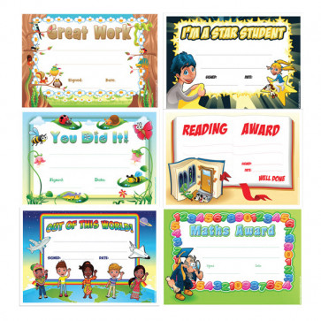 School Certificates | Teacher's Variety Pack - Maths Certificates, Reading Certificates, Star of the Week & More!