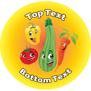 Personalised Stickers for Teachers | Vegetable & Fruit Designs to Customise for Kids