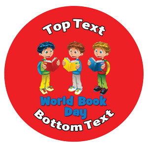 Personalised Stickers for Kids   Read! It's World Book Day Designs to Customise for Teachers