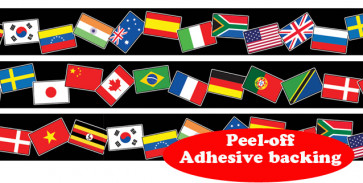 Roll Border | World Flag Self-Adhesive Border Roll