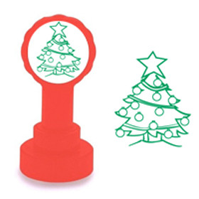Self-inking Stamp | Christmas Tree Design Teacher Marking Stamp - No ink pad required.
