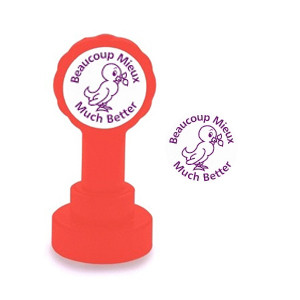 Self-inking Teacher stamper | Beaucoup Mieux / Much Better French Marking Stamp
