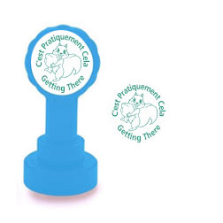 Self-inking Teacher stamper | C'est Pratiquement Cela / Getting There French Marking Stamp