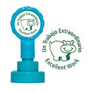Self-inking Stamp | Un Trabajo Extraordinario / Excellent Work Spanish Language Self-Inking Teacher Stamp - No ink pad required.