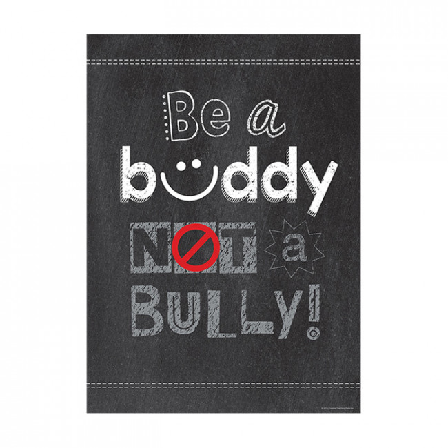 Bien-aimé School Poster | Be a buddy NOT a Bully! Anti-Bullying Message  PA45