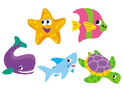 Children's Stickers | Sea Life Animal Stickers