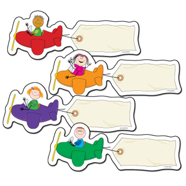 picture card labels for classrooms stick kids airplanes