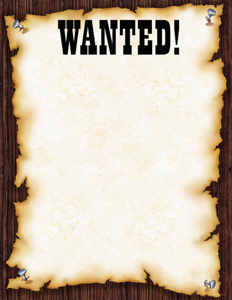 Posters Quot Wanted Quot Wild West Style Poster For Notices