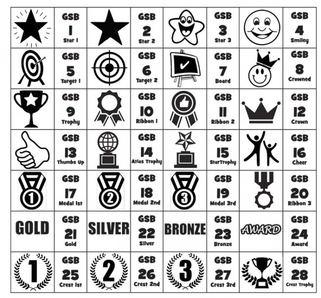 Custom Stamps Gold Silver Bronze 3 Set Self Inking