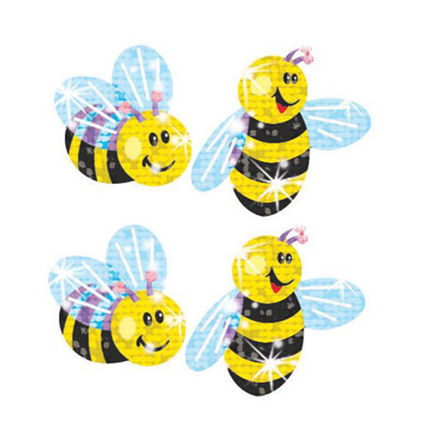 Buzzing Bumblebees Sparkle Teacher Stickers