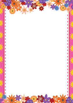 Teacher Resources A4 Snazzy Flower Design Computer Flowers A4 Page Borders