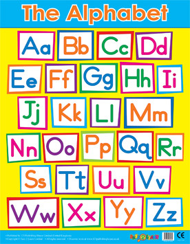 Wall Charts | Alphabet Wall Poster Grid. Free Delivery
