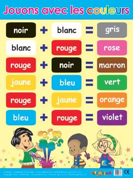 Educational Posters | Jouons avec les couleurs French Poster. Free ...