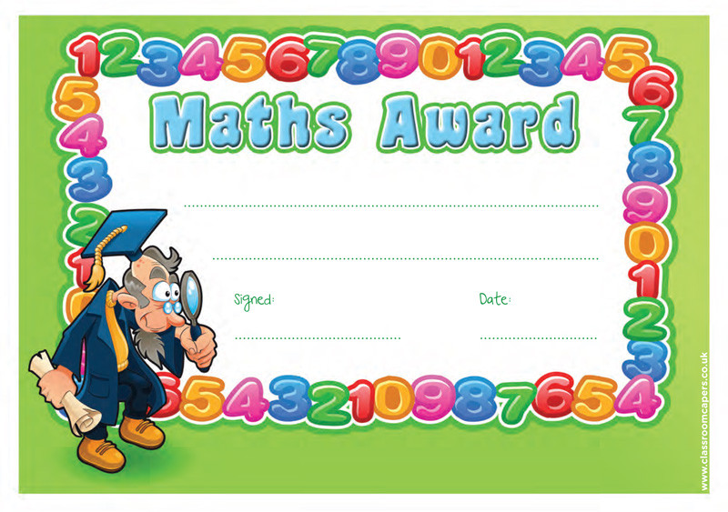 School Certificate – Certificate of Achievement for Kids