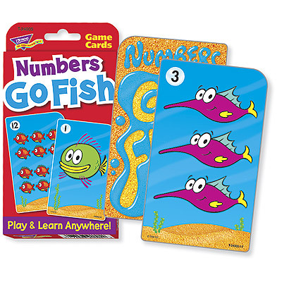 Educational games numbers go fish challenge cards for Go fish cards