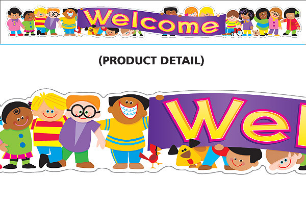 Classroom Welcome Design ~ Display banners classrooms welcome message multi