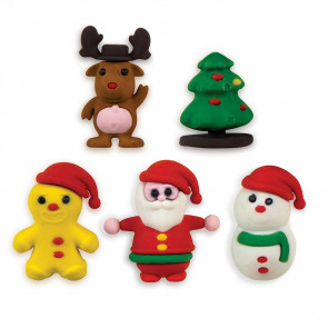 School Class Gifts | 3D Christmas Erasers - Snowman, Father Christmas, Reindeer, Christmas Tree