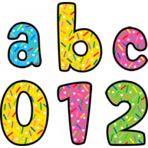Lowercase Letter Stickers   Colourful Sprinkles Design Alphabet Stickers for Crafts and Displays