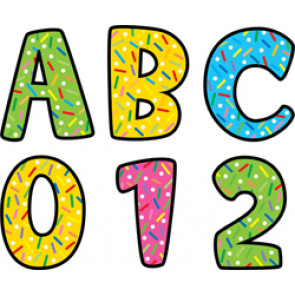 Uppercase Letter Stickers   Colourful Sprinkles Design Alphabet Stickers for Crafts and Displays