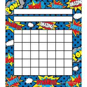 IIncentive Charts | Superhero Reward Chart Pad. 36 Sheet Pad.