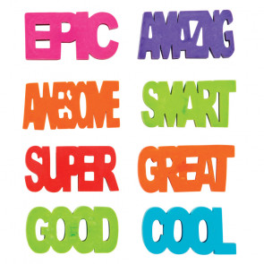 Kids Erasers | Positive Attitude 3D Erasers For Party Bags & Class Gifts